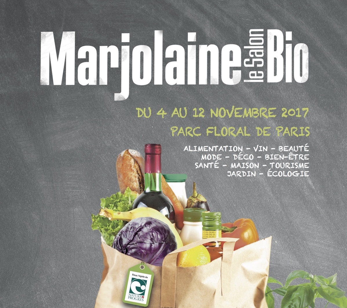Visite du salon du bio, Marjolaine 2017